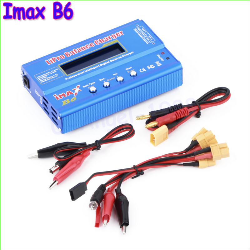 Wholesale 1pcs IMAX B6 80W Multi-function Professional Intelligent 1-6 Cells XT60 LiPo Battery Balance Charger for RC Quadcopter 5pcs lot 2s 3s 4s 5s 6s lipo battery balance charger cable imax b6 connector plug wire for imax b3 b6 wholesale