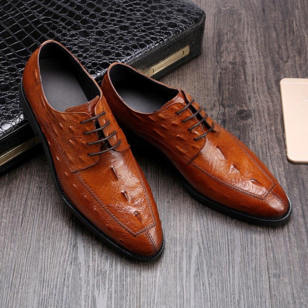 men dress oxfords wedding shoes italian leather business shoes 2018 spring autumn genuine leather oxfords borgues shoes