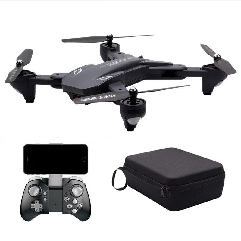 VISUO XS816 RC quadrirotor avec FPV Wifi double caméra 2MP + 0.3MP maintien d'altitude flux optique geste prise de vue Drone RC plié VS E58