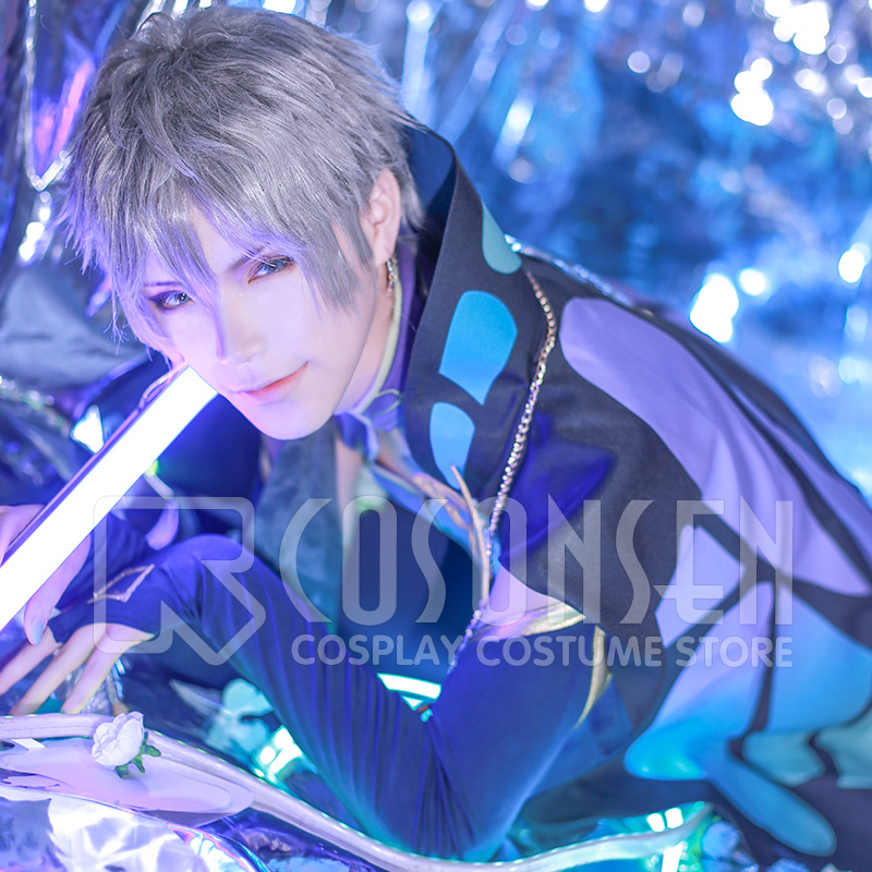 COSPLAYONSEN Ensemble Stars Sena Izumi Butterfly Cosplay Costume Purple Costume Full Set All Size