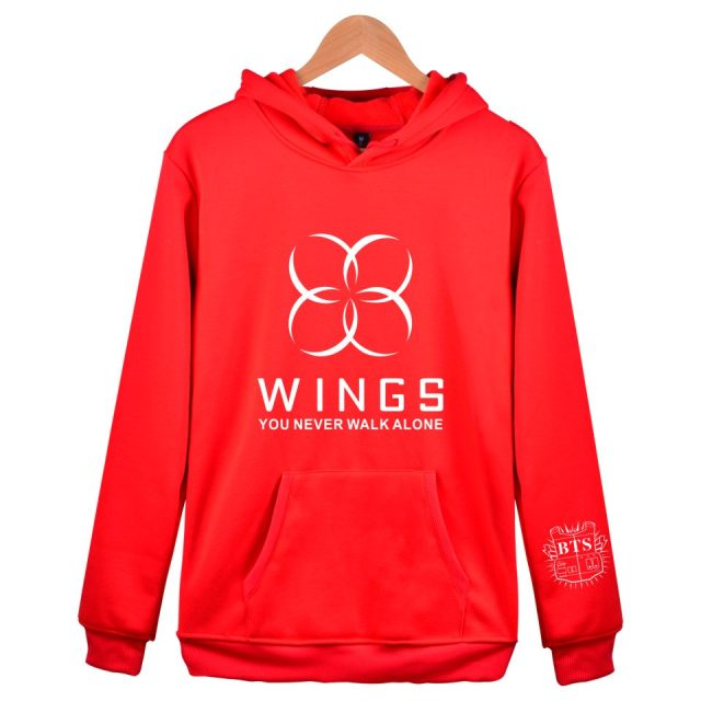 9b259b6fa0069 2018 Fashion Men Women Hooded BTS WINGS Bangtan Cap RED Hoodies men women  Sweatshirts Couple Kpop BTS hoodies Men Women Clothes