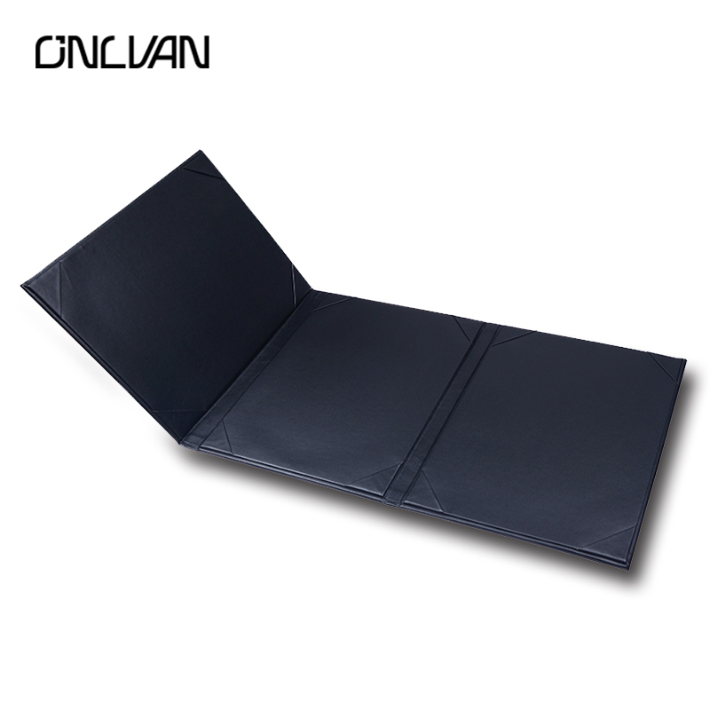 ONLVAN 5 Pcs/lot Advertising Menu Folder Luxury Leather Menu Holder Classics Coffee KTV Menu Cover Accept Customized brown genuine leather menu holder restautant menu cover money receipt high quality accept customized order print your own logo
