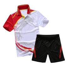 2016 Badminton dragon shirt summer Men's badminton sets , Table tennis Shirt+shorts , Badminton clothes , badminton wear L1811