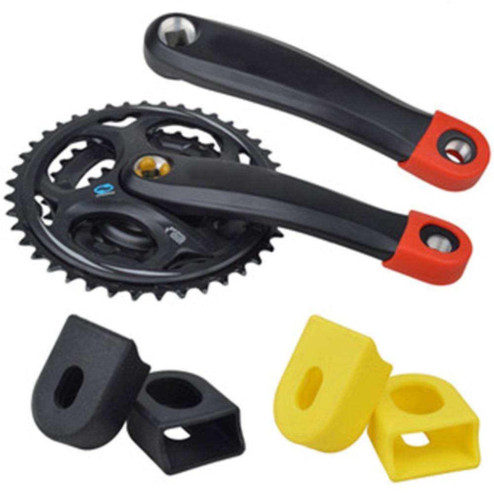 1Pair Bicycle Protector Crank Arm Boots Silicone Bike MTB Crankset Protective CF