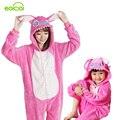 Pijamas animales una pieza familia juego trajes adultos onesie madre e hija ropa Totoro dinosaurio unicornio pijamas mujeres