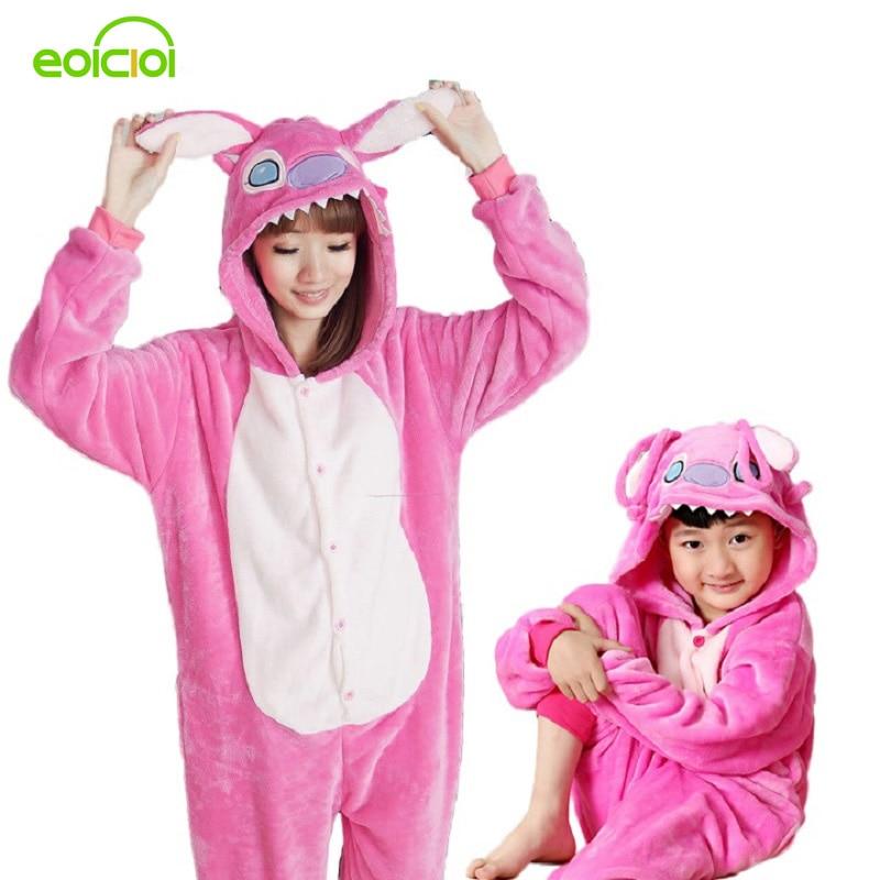 Pijamas de una pieza familia juego trajes adulto mono de la madre y la hija ropa Totoro dinosaurio unicornio pijama de las mujeres