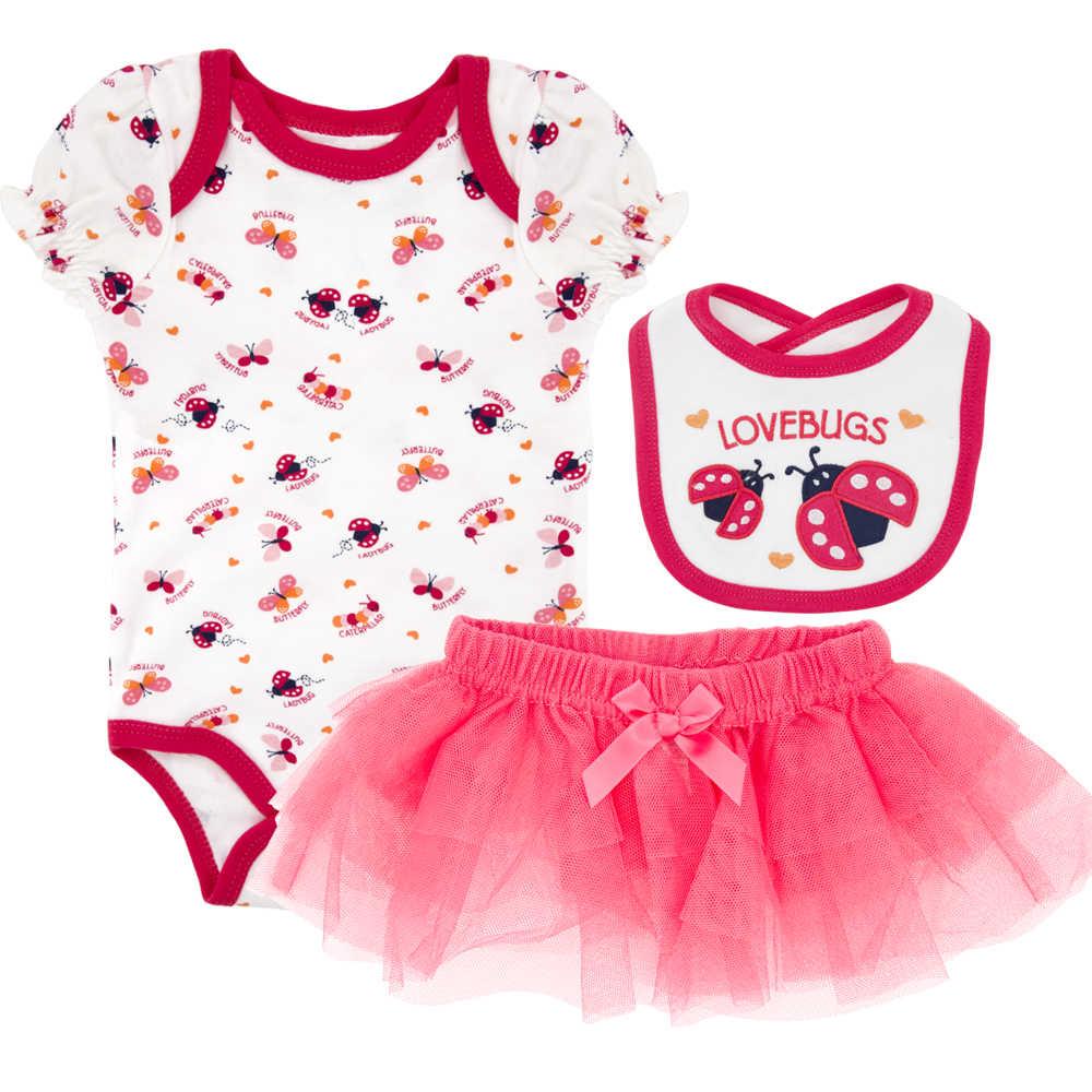 a49da5d2275f9 KAVKAS Girl Baby Sets Newborn baby clothing clothes short sleeve cotton  floral 3 piece bodysuit+pants+hat or bib roupa infantil