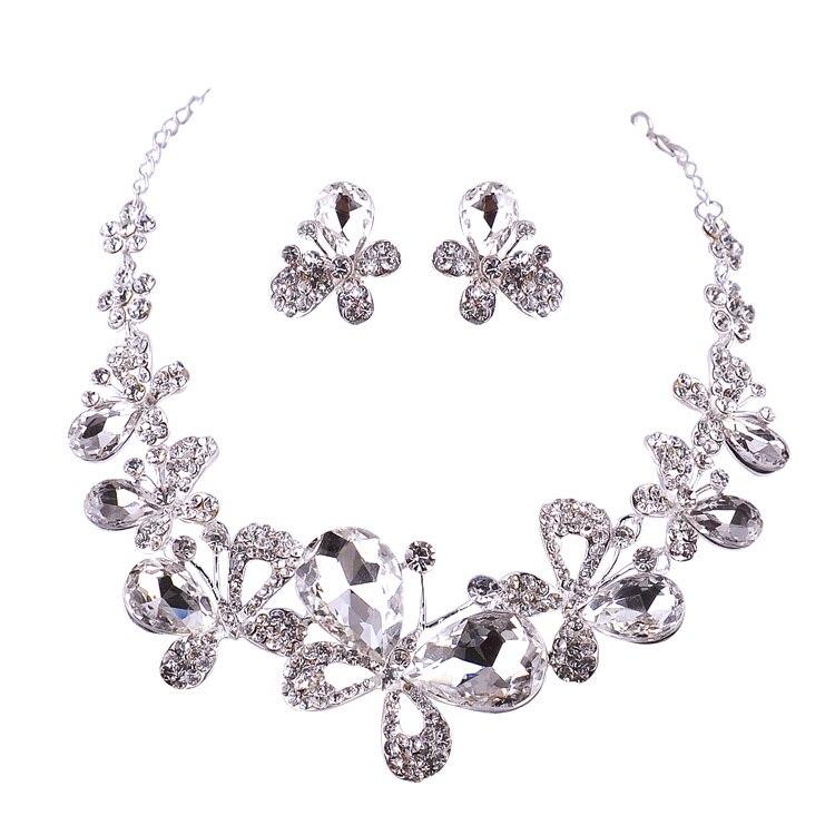 Bastante buen collar nupcial establece joyería de la boda de moda de lujo rhines