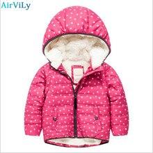 School Winter Boys Coat Children Thicken Hooded Parkas Kids Girl casual style Jackets Fleece Warm Outerwear Children Clothes