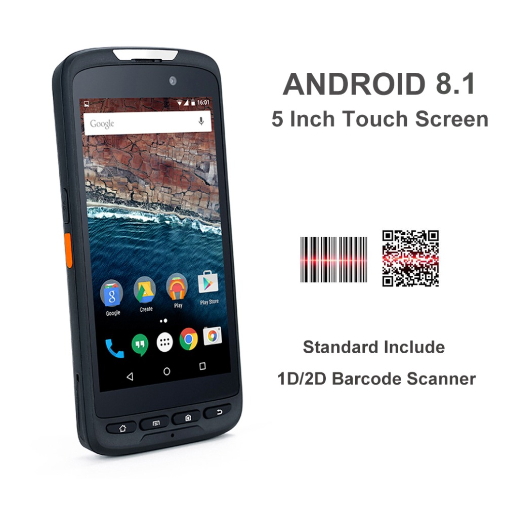 4G LTE Android8.1 rugged nfc rfid reader 2d barcode ...