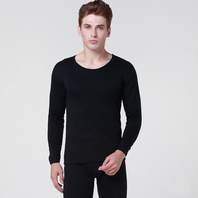 Envío de la alta calidad ocasional otoño e invierno transpirable hombres mantener caliente engrosada cómodo jersey de Algodón ropa interior