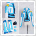 2016 на заказ DMMD убийство Seragaki аоба косплей костюм ( куртка + + T + перчатки + бахилы ) индивидуальные