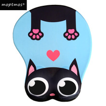 лучшая цена Anime 3D Mouse Pad Ergonomic Soft Silicon Gel Gaming Mousepad with Wrist Support Cute Cat Mouse Mat For Girls