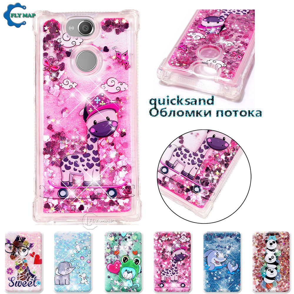Phone Bags & Cases Fitted Cases Imported From Abroad Case For Sony Xperia Xa2 Xa 2 H4113 H4133 Glitter Stars Dynamic Liquid Quicksand Tpu Case For Sony Sm12 H3113 H3123 H3133 Cases