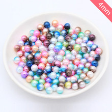 цена на 150pcs/lot 4mm Multicolor No Hole Imitation Pearls Round Loose Beads Garment Handmade DIY Accessories For Fashion Jewelry Making