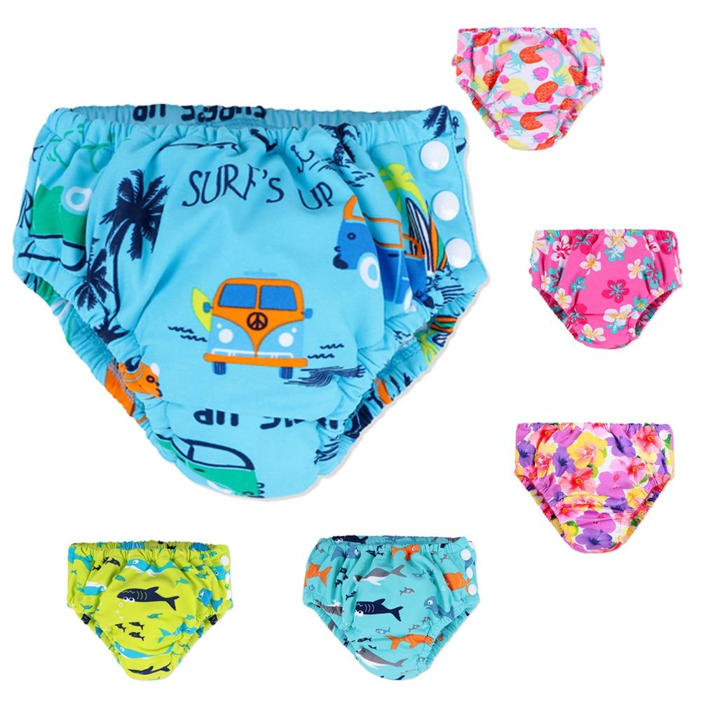 BAOHULU Baby Kids Cartoon Print Swimwear Briefs Girls Boys Swim Diaper Shorts Children Swimsuit Trunks Infant Bathing Suit Pants