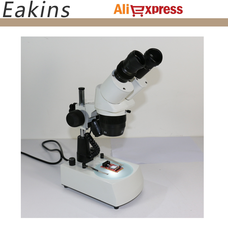 где купить 20x-40x Stereo binocular Microscope for Mobile Phone Repair with ring light and Halogen Bottom lamp light по лучшей цене