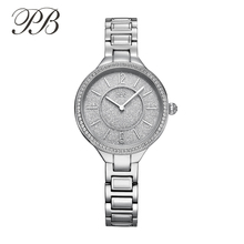 Women Watches 2017 Brand Luxury Princess Butterfly Stainless Steel Water Risistant Japan Quartz Bracelet Watch Bling HL658