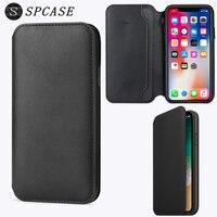 SPCASE Officiel Portefeuille Flip Étui En Cuir Pour Apple iPhone X Smart Phone Card Slot Cover Capa Funda