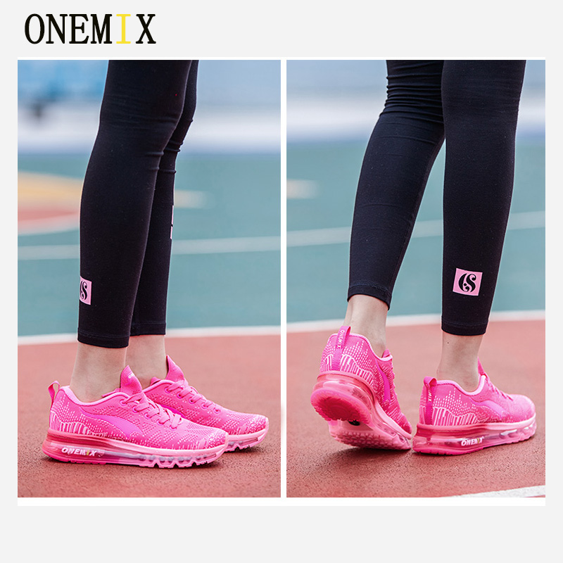 Onemix Hot Sales Women Music Rhythm Breathable Knit Vamp Women Sports Shoes Running Shoes Sneakers Free Shipping Shoes Size 4-40 onemix music series autumn