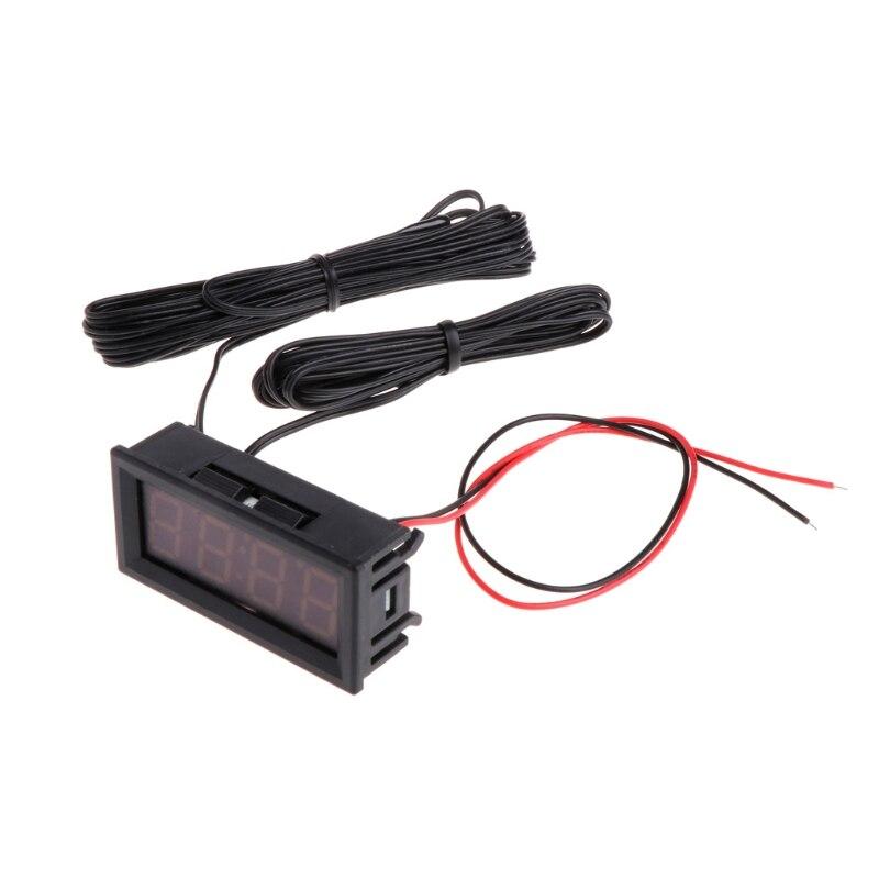 1 Pc 0.56 Électronique Numérique Horloge Température Mètre de Tension LED 12 V 24 V 36 v 48 v De Voiture