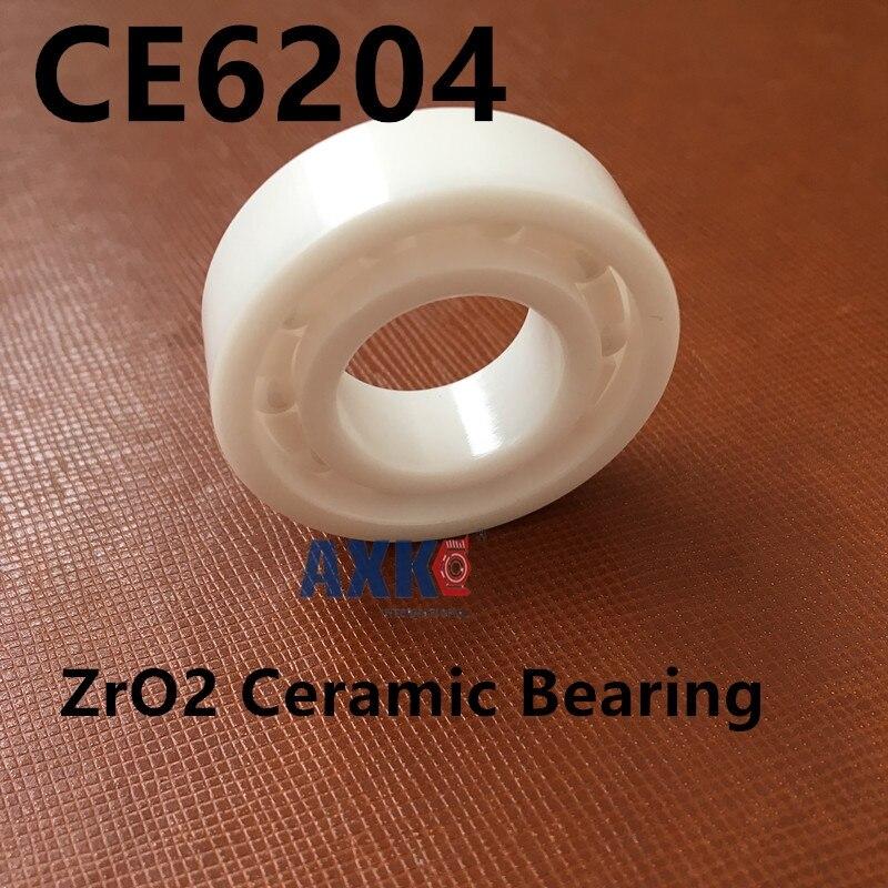 Livraison gratuite 6204 zro2 roulements en céramique 20x47x14mm