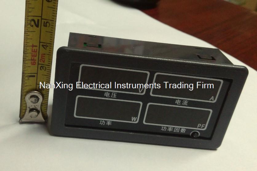 ФОТО 4 in 1 AC single-phase multi-function meter voltmeter current meter power meter power factor meter display meter 0-300W