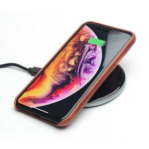 Image 5 - QIALINO stylowy prawdziwej skóry skórzane etui do Apple iphone XR 6.1 cali Ultra cienki ręcznie Anti knock tylna pokrywa dla iphone XR
