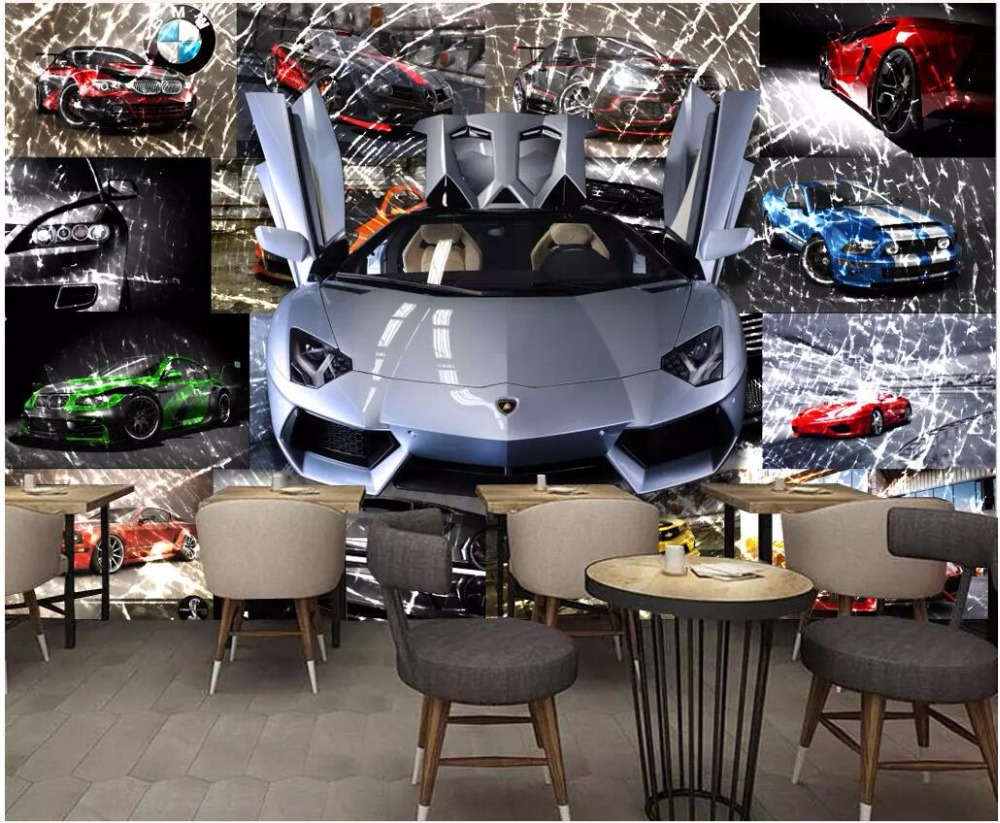 Sports Car Wallpaper For Bedroom: Custom Mural 3d Photo Wallpaper For Bedroom Car Sports Car