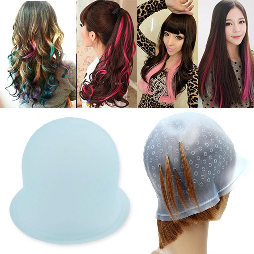 New 1pc Silicone Professional Dye Cap For Hair Extension Reusable Hair Color Coloring Highlighting Dye Cap For Salon
