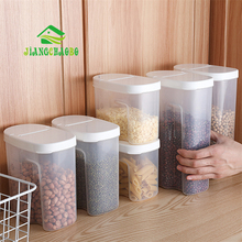 JiangChaoBo Kitchen Grain Storage Tank Transparent Cover Plastic Sealed Food Moisture Household