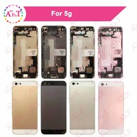 10Pcs Lot AAA For IPhone 5 5G 5S Back Middle Frame Chassis Full Housing Assembly Battery