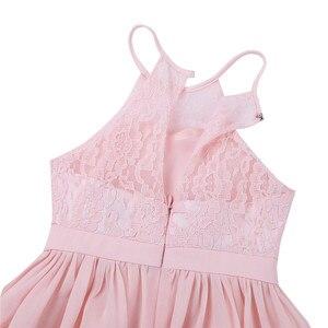 Image 5 - Детские розовые платья с цветами и жемчужинами для маленьких девочек платье для первого причастия, свадебные вечерние платья подружки невесты и дня рождения