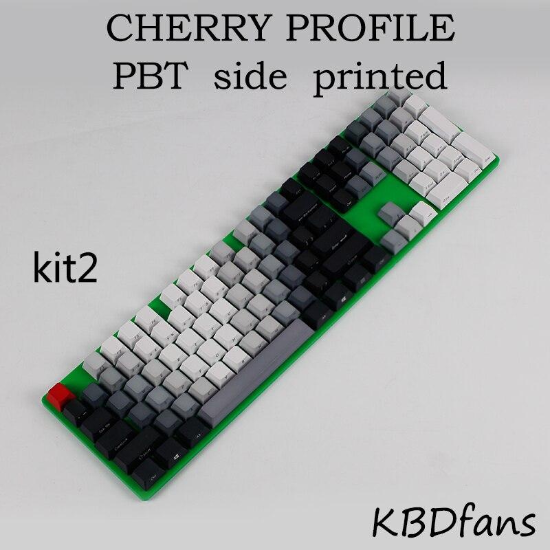 bilder für Kostenloser versand gedruckt PBT tastenkappen für cherry mx tastenkappen schalter 104 tastenkappen mechanische tastatur cherry profil