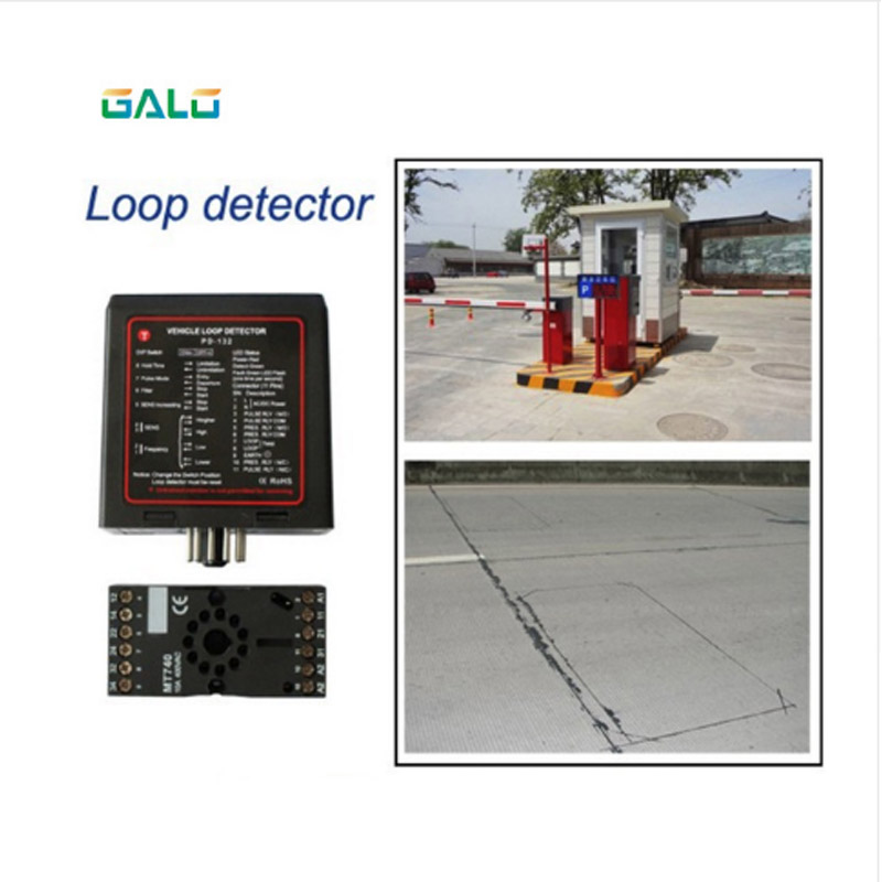 Single Channel Inductive Vehicle Loop Detector Controller Module Sensor Access Control In Parking Lot