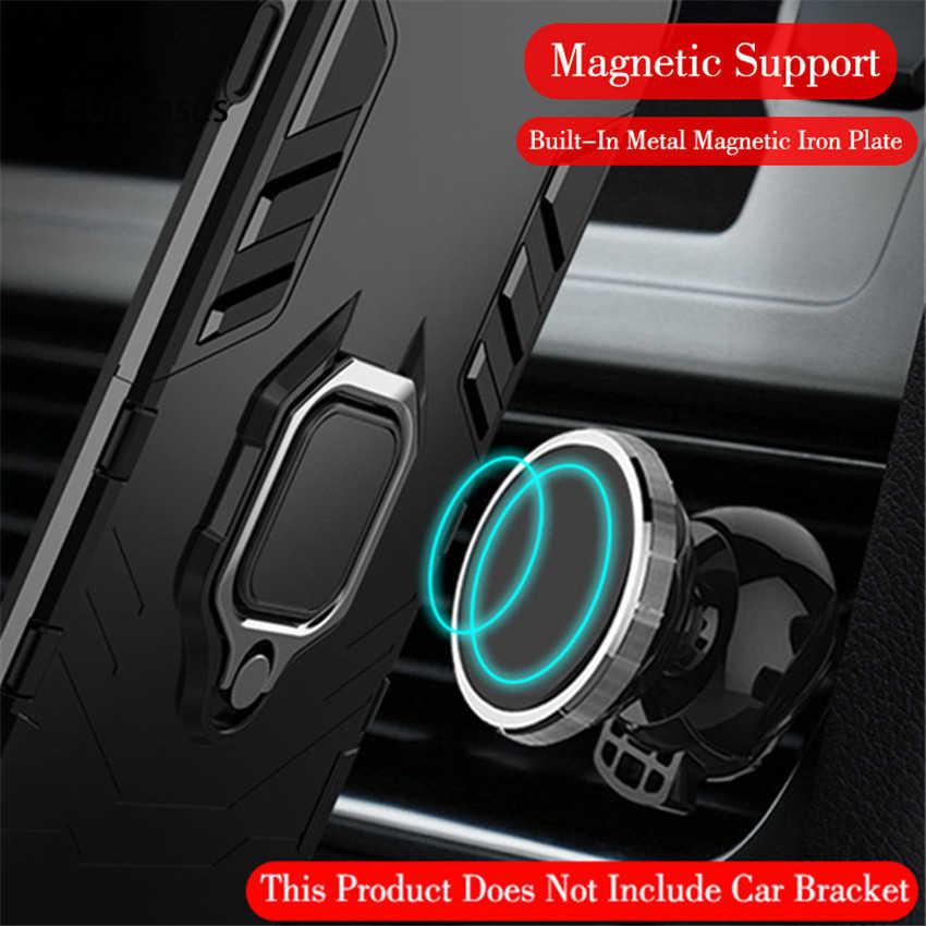 Magnetische Stoßfest Rüstung Telefon Fall Für Xiao mi Red mi Hinweis 4X Luxus Auto Ring Halter Stehen Harte Rückseitige Abdeckung für Red mi note4x 4 x