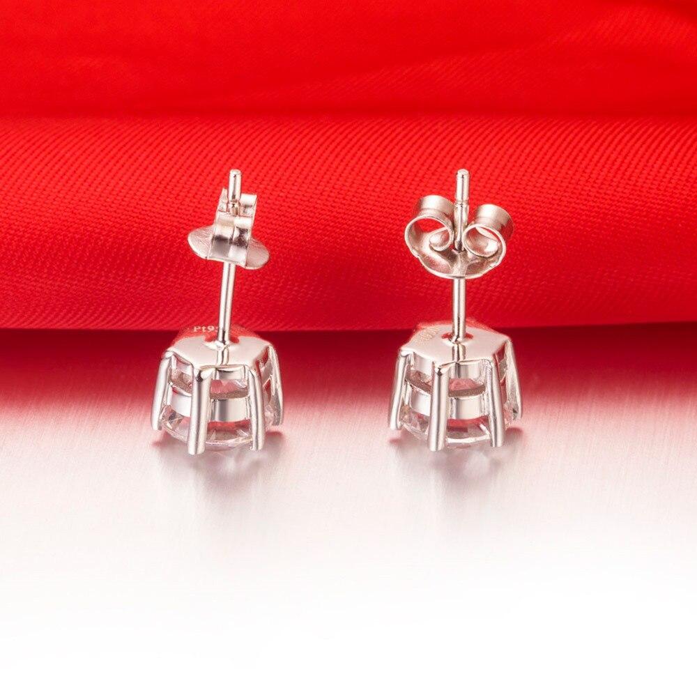 Aliexpress 0 6ct Each Round Cut Flawless Nscd Lovely Diamond Stud Earrings Wedding Earring Genuine 925 Silver Women From Reliable