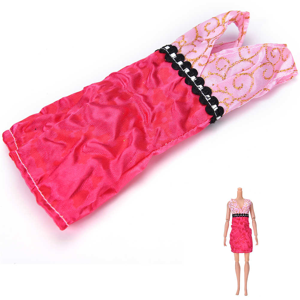 1 Uds. Mini vestido para muñeca Barbie de fiesta con cuello en V cumpleaños Año nuevo regalo para niños hecho a mano