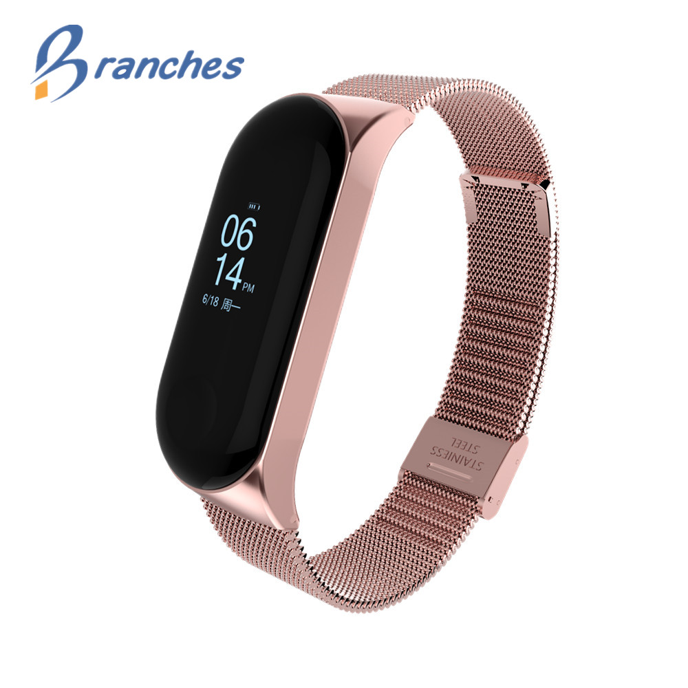 Mi band 3 Strap Metal for Xiaomi Mi Band 3 Bracelet Screwless Xiaomi Mi Band 3 Bracelet Correa Xiomi MiBand 3 Wrist Band Steel влагостойкая встраиваемая акустика visaton fr 8 wp 4 black 1 шт