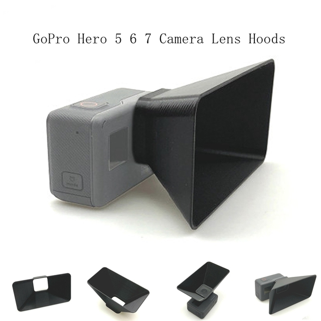 GoPro Hero 5 6 7 Camera Lens Hoods Anti Glare Lens Sun Shade Cover Light Flares Protection Shield Gimbal Protecto Accessories