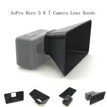 Gopro hero 5 6 7 capuzes lente da câmera anti brilho sol sombra capa luz flares proteção escudo cardan protecto acessórios