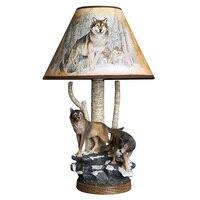 Modern Resin Wolf Table Lamp Creative Animal Lamp Fixture Bedroom Bedside Lamp Reading Desk Light Living Room Art Deco Led Lamp