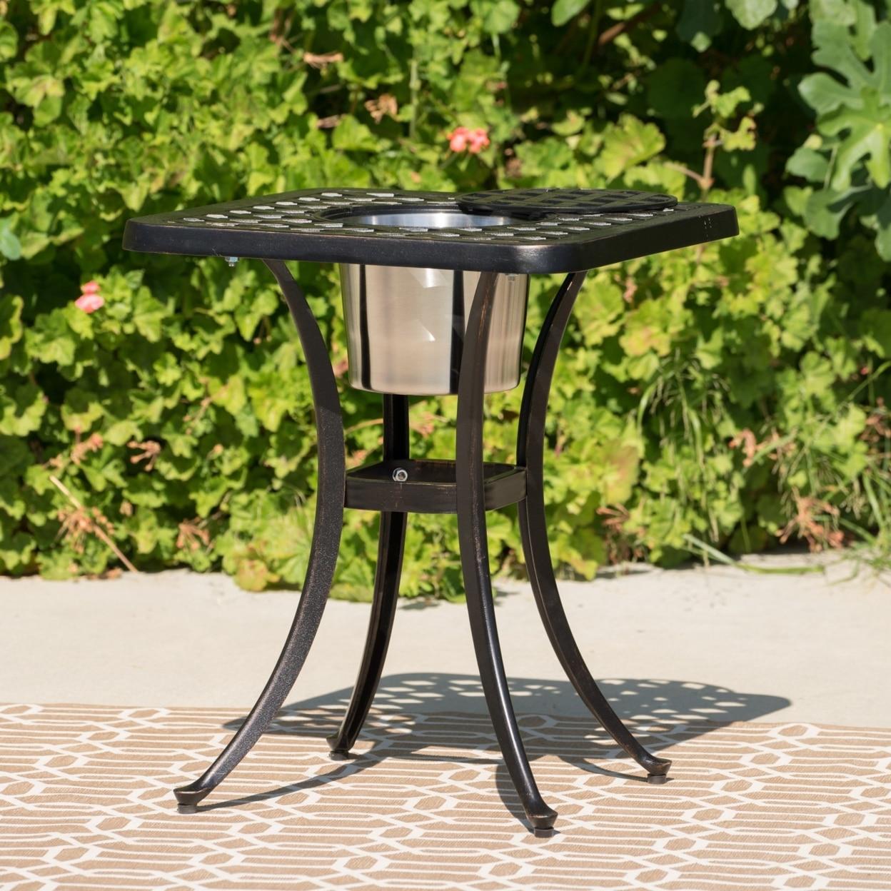 Ariel Outdoor Patina Copper Bistro Table with Ice Bucket колесные диски replica legeartis pr13 8x18 5x112 d66 6 et21 bkf