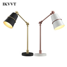IKVVT Adjustable Desk Light Folding Lamp Home Decoration Table Lamps Indoor Light Led Modern Minimalist Iron Rocker Desk Lamp(China)