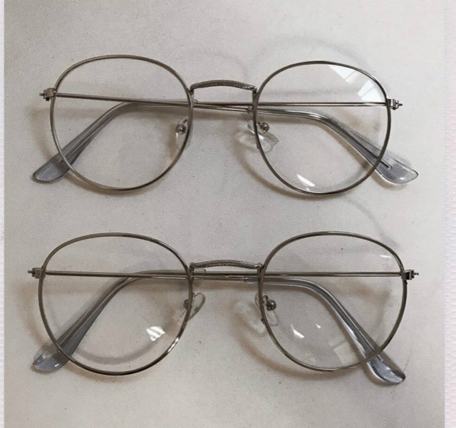 2018 New Designer Woman Glasses Optical Frames Metal Round Glasses Frame Clear lens Eyeware Black Silver Gold Eye Glass 2