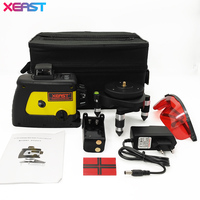 XEAST 12 Line Laser Level 360 Self Leveling Cross Line 3D Laser Level Red Beam With