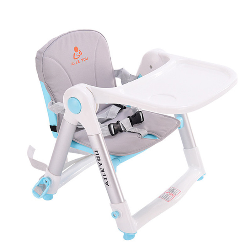 Baby dining chair kids dinner table folding portable multi-function children's eating chair dining table stool glass dinner table milk tea shop reception desk and chair small family dining table