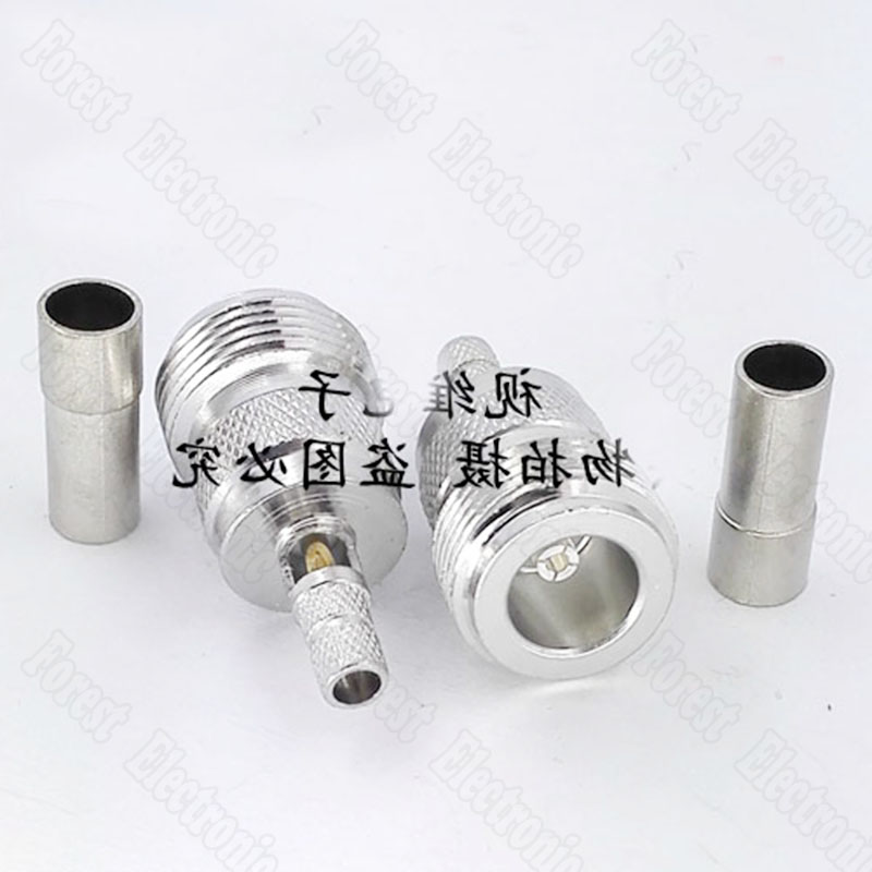 10pcs lot N Type Female RF Connector L16 Feeder Connector Crimping 50 3 Line in Connectors from Lights Lighting