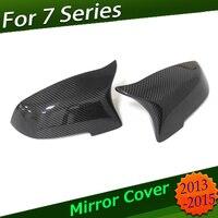 Для BMW 7 серии углеродного волокна Грон заменены сторона зеркала Кепки для BMW F01 F02 F03 F04 2013 2014 2015 зеркала Кепки