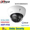 Dahua ip dome câmera 4mp h2.65 night vision 50 m com micro sd de memória 128g máximo ip67, IK10, câmera de rede IPC-HDBW4431R-S